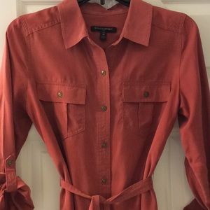 🌼Banana Republic Rust Shirt Dress🌼